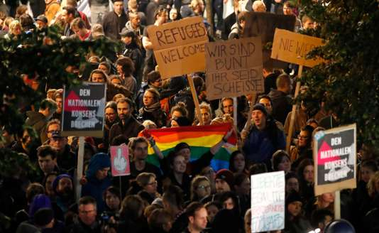 German election: Anti-AfD protest in front of Berlin
