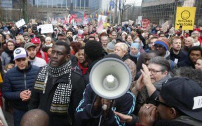 Plus de 5.000 personnes à la manifestation contre le racisme à Bruxelles
